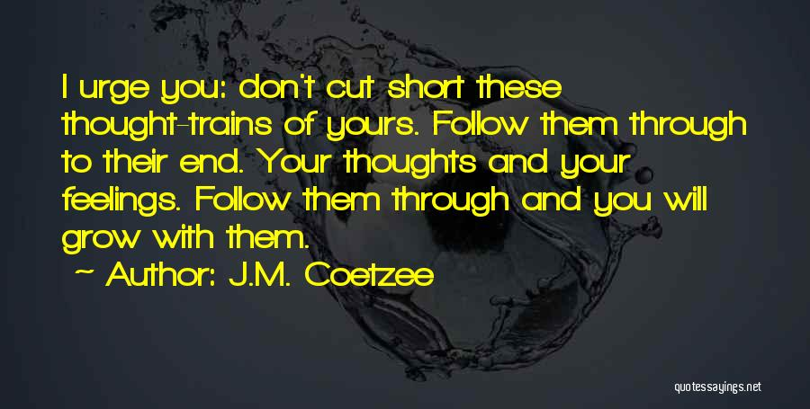 Trains Of Thought Quotes By J.M. Coetzee
