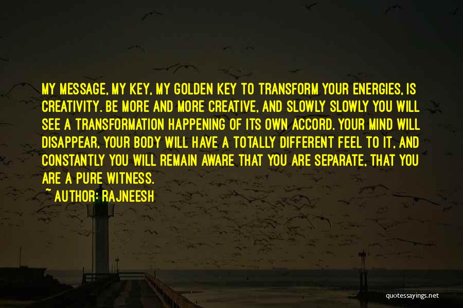 Transform Your Body Quotes By Rajneesh