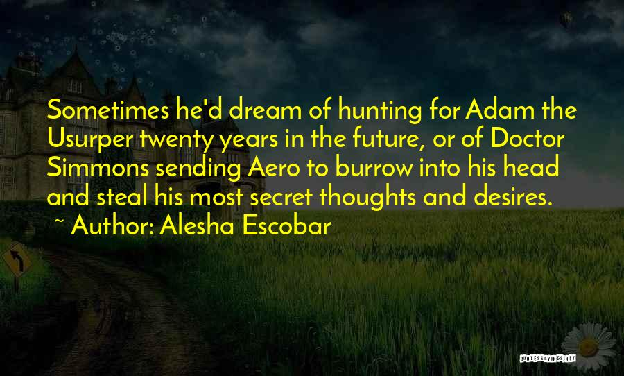 Travel And The Future Quotes By Alesha Escobar