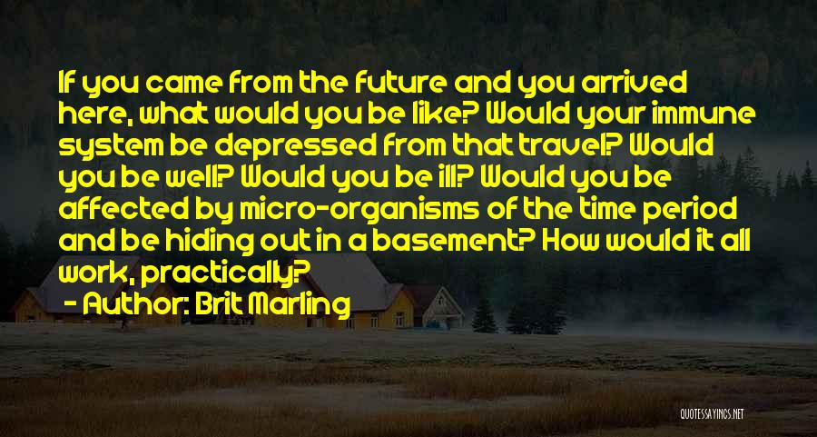 Travel And The Future Quotes By Brit Marling