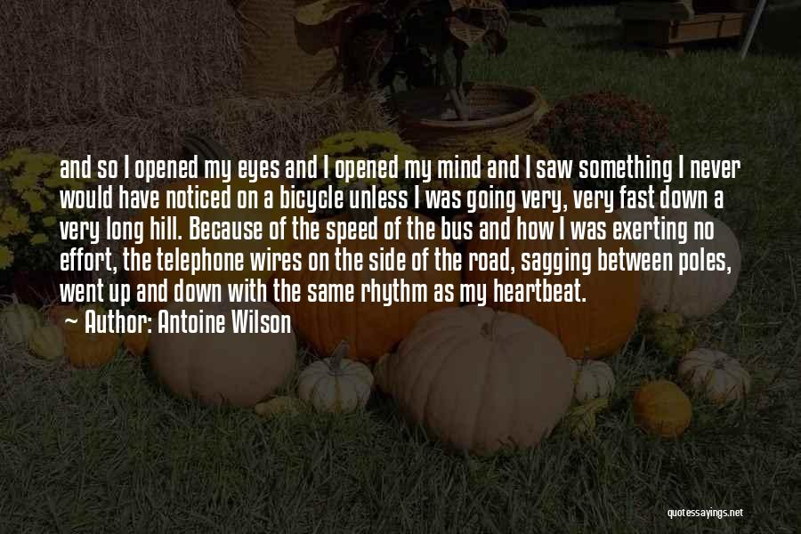 Travel The Road Quotes By Antoine Wilson