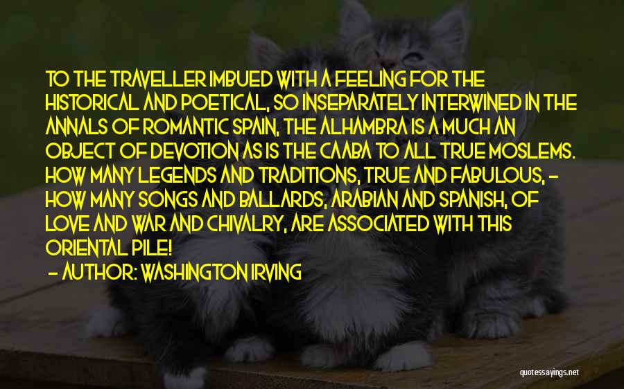 Travel With Love Quotes By Washington Irving