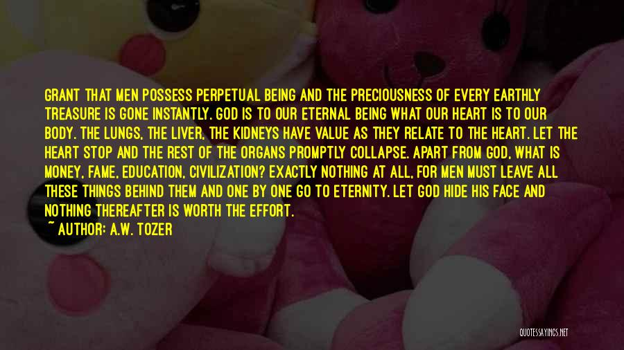 Treasure And Heart Quotes By A.W. Tozer