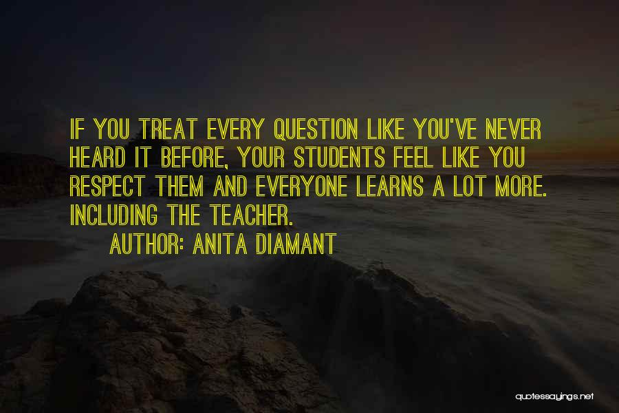 Treat Everyone Respect Quotes By Anita Diamant