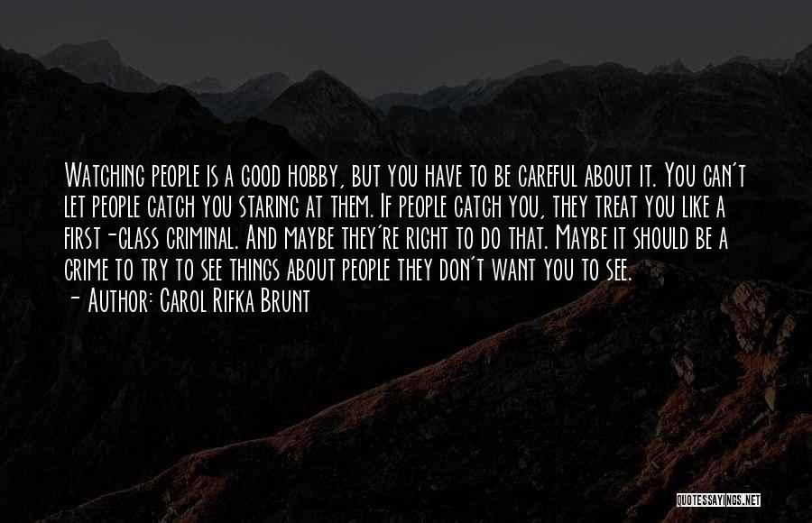 Treat You Right Quotes By Carol Rifka Brunt