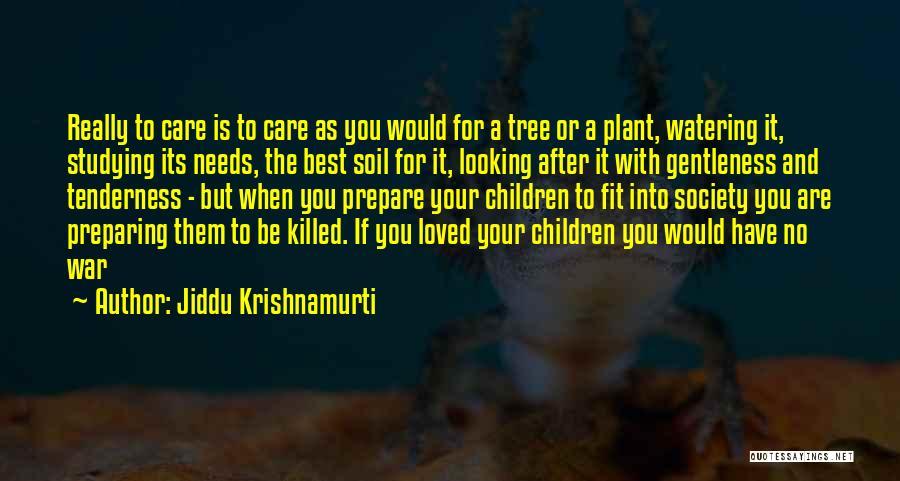 Tree And Quotes By Jiddu Krishnamurti