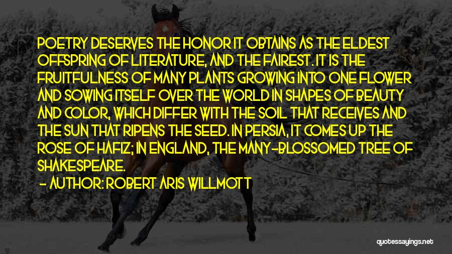 Tree And Quotes By Robert Aris Willmott