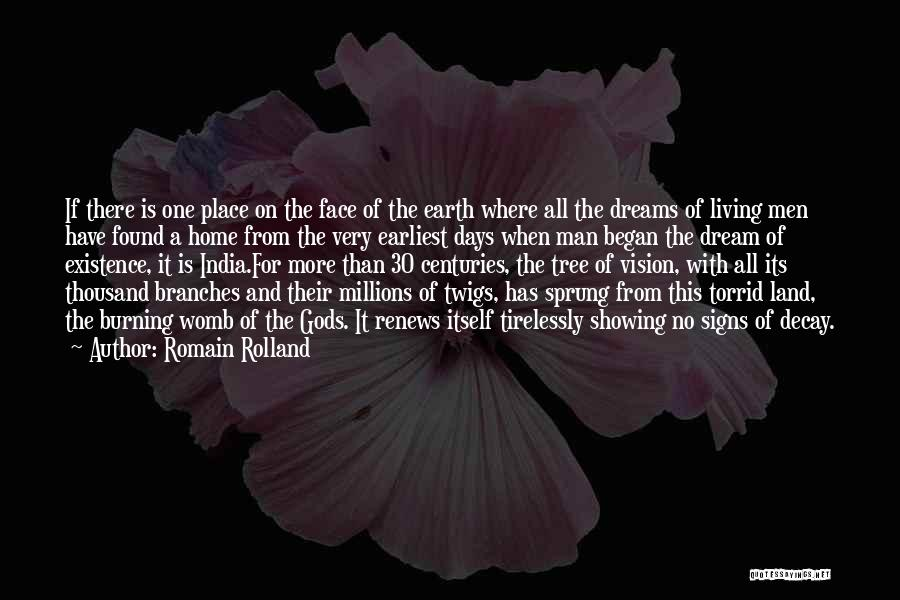 Tree And Quotes By Romain Rolland