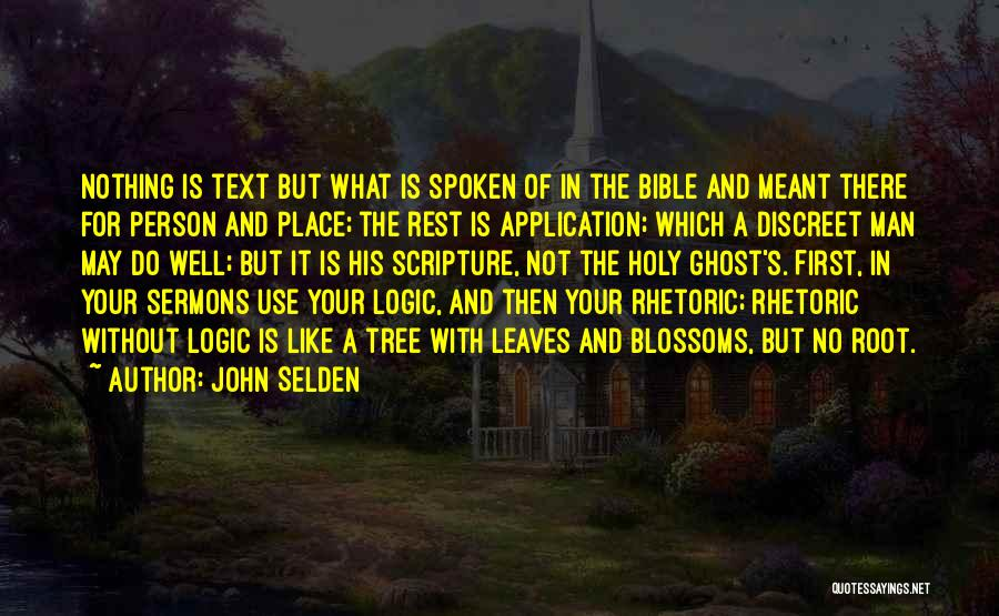Tree Blossoms Quotes By John Selden