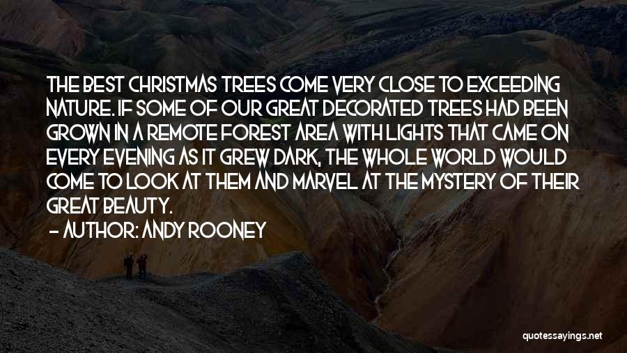 Tree With Lights Quotes By Andy Rooney