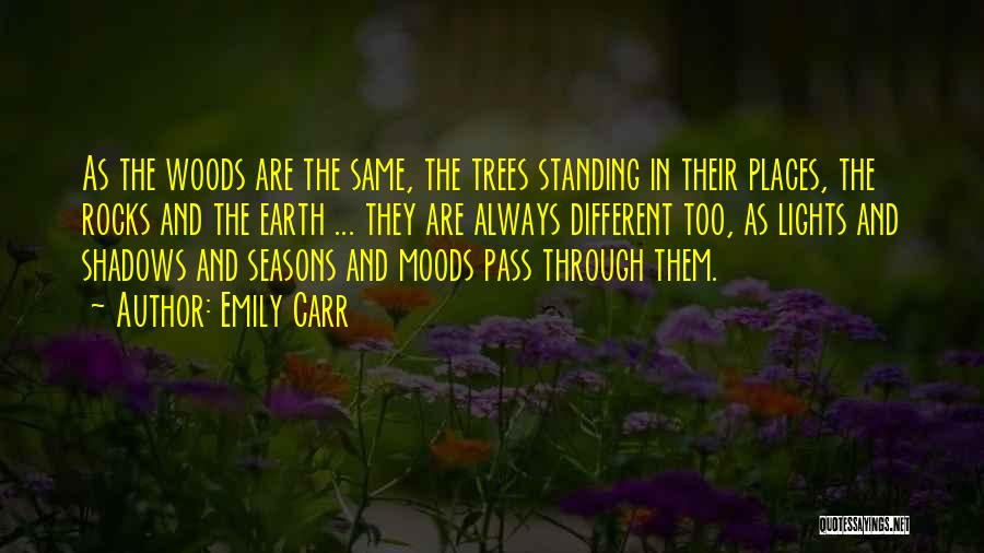Tree With Lights Quotes By Emily Carr