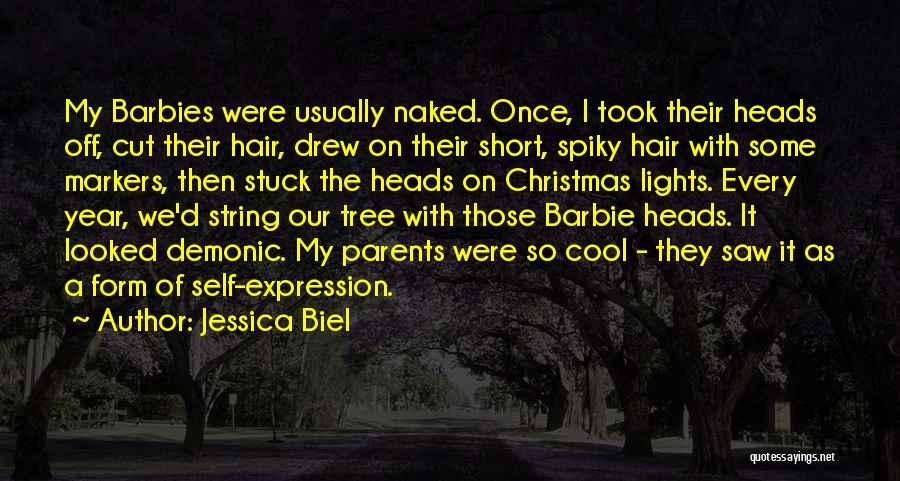 Tree With Lights Quotes By Jessica Biel