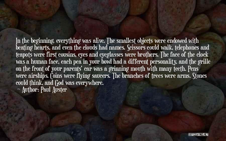 Trees And Clouds Quotes By Paul Auster