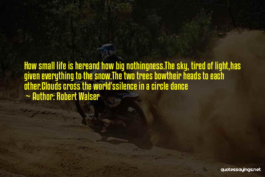 Trees And Clouds Quotes By Robert Walser