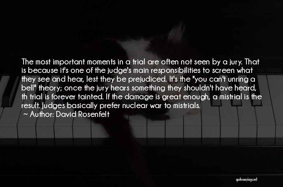 Trial By Jury Quotes By David Rosenfelt