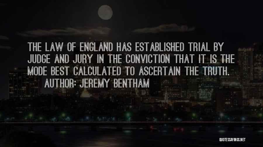 Trial By Jury Quotes By Jeremy Bentham