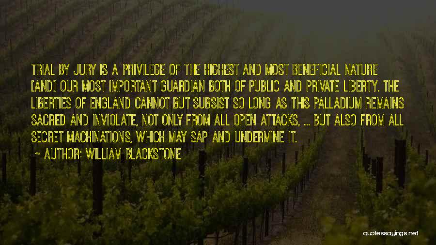 Trial By Jury Quotes By William Blackstone
