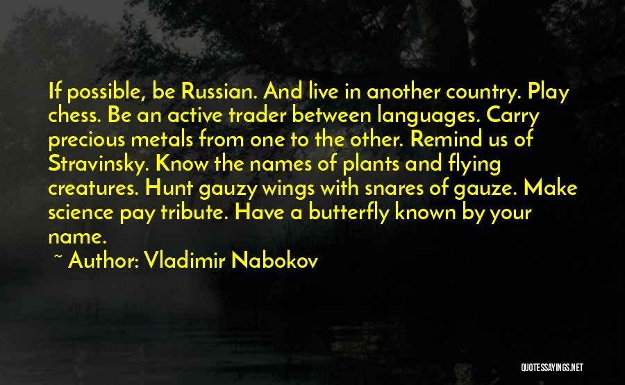 Tribute Quotes By Vladimir Nabokov