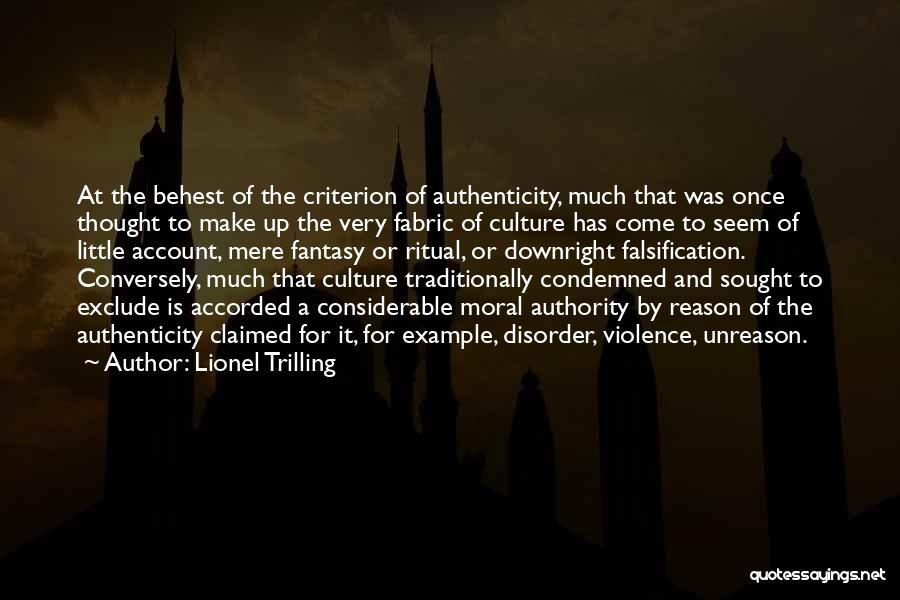 Trilling Quotes By Lionel Trilling