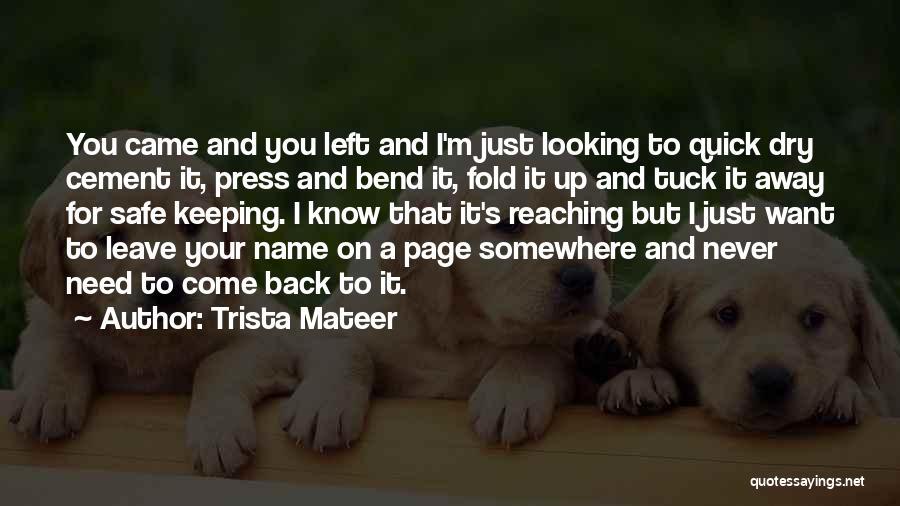 Trista Mateer Quotes 512716