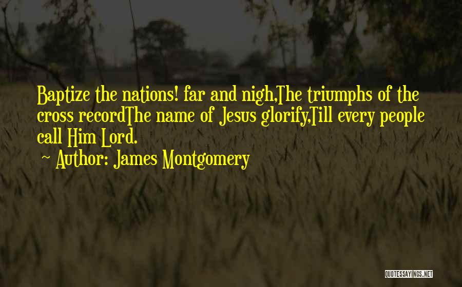 Triumphs Quotes By James Montgomery