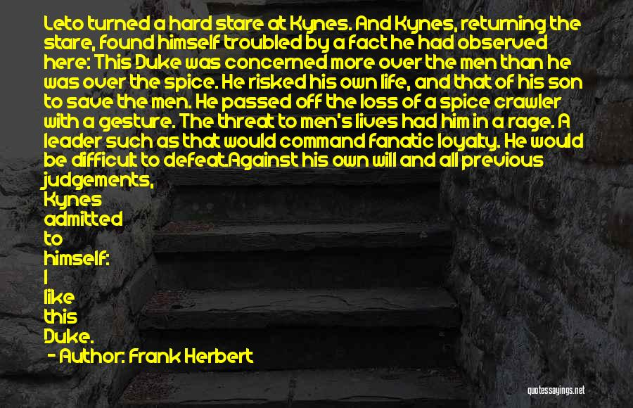 Troubled Son Quotes By Frank Herbert
