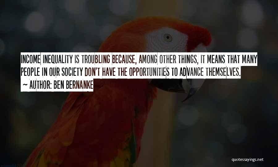 Troubling Quotes By Ben Bernanke