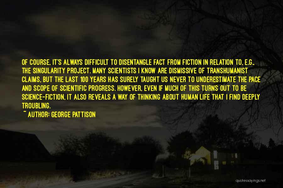 Troubling Quotes By George Pattison