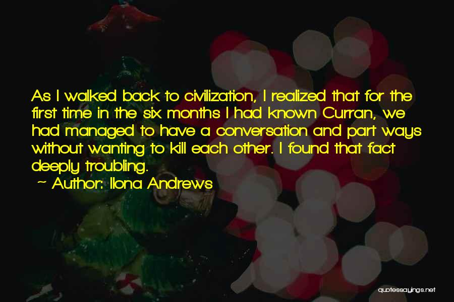 Troubling Quotes By Ilona Andrews