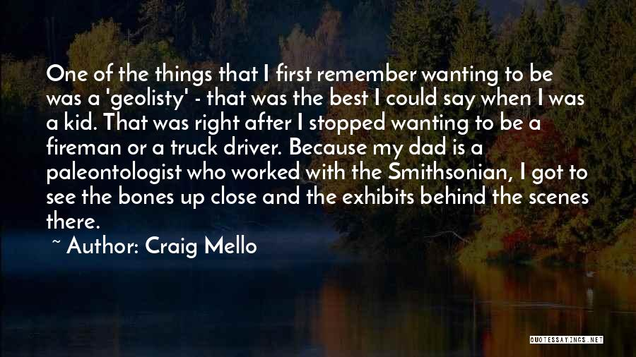 Truck Driver Quotes By Craig Mello