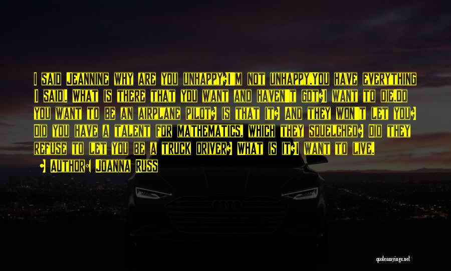 Truck Driver Quotes By Joanna Russ
