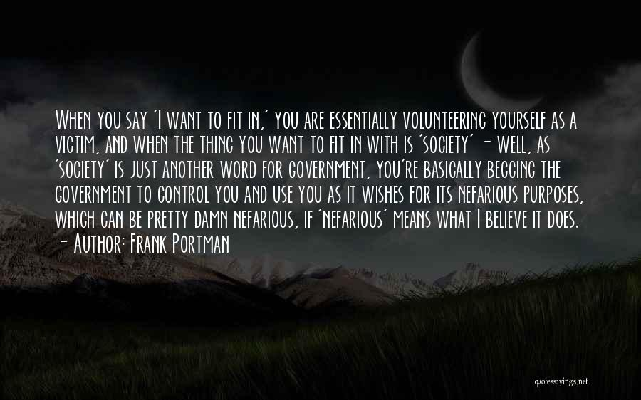 True And Funny Quotes By Frank Portman