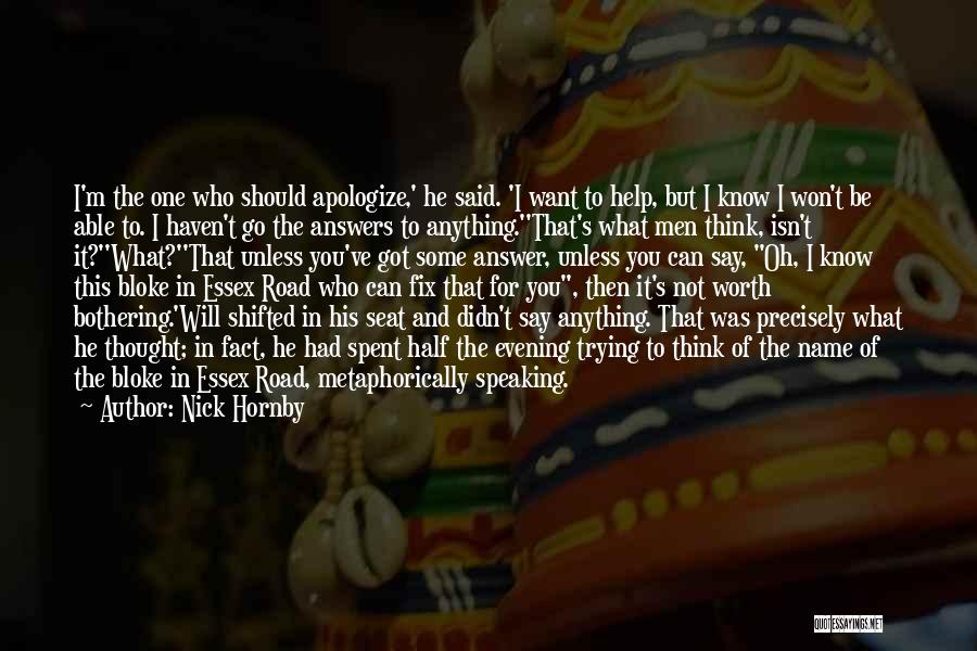 True And Funny Quotes By Nick Hornby