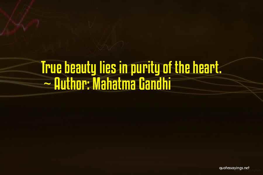 True Beauty Inspirational Quotes By Mahatma Gandhi