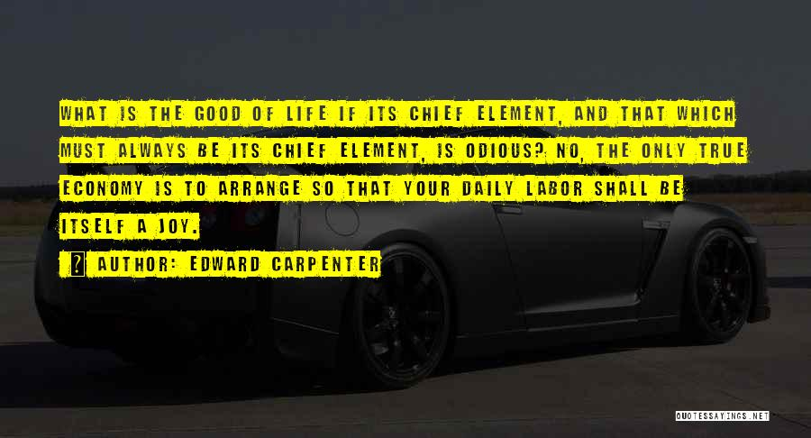 True Daily Life Quotes By Edward Carpenter
