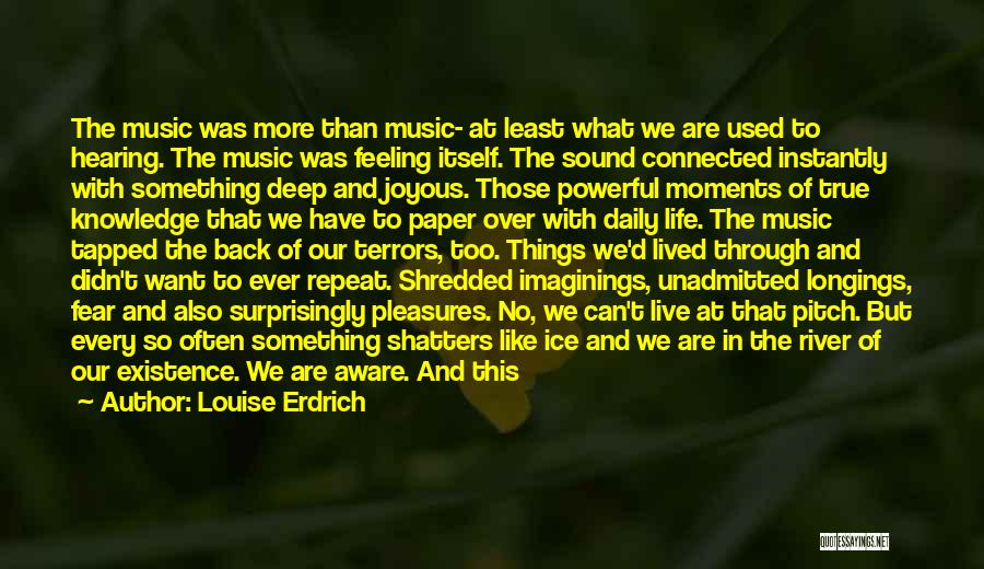 True Daily Life Quotes By Louise Erdrich