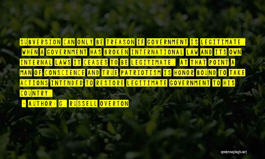 True Ex Quotes By G. Russell Overton