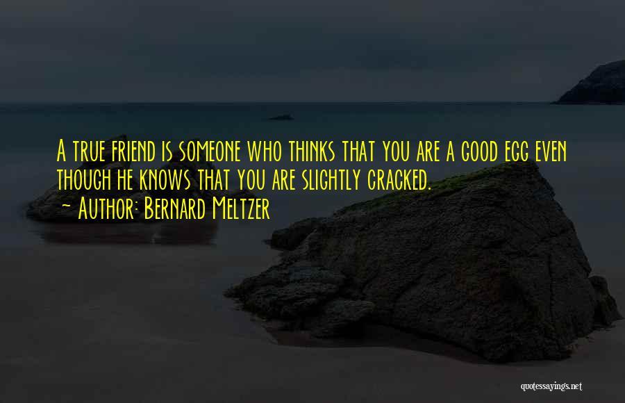 True Good Friend Quotes By Bernard Meltzer