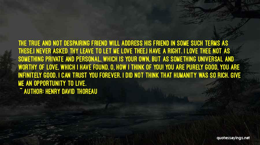 True Good Friend Quotes By Henry David Thoreau