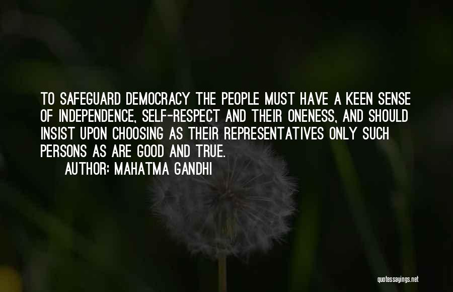 True Independence Quotes By Mahatma Gandhi