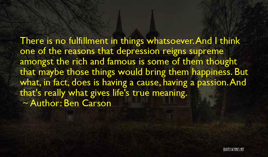 True Meaning Of Happiness Quotes By Ben Carson