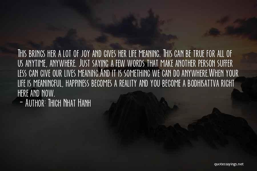 True Meaning Of Happiness Quotes By Thich Nhat Hanh