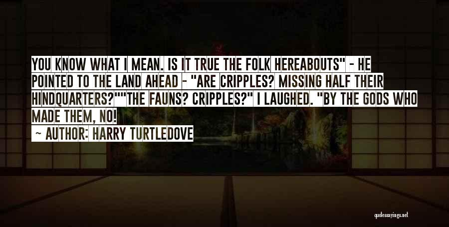 True Missing You Quotes By Harry Turtledove