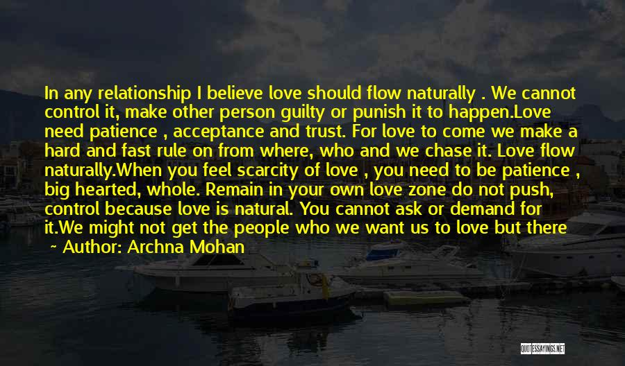 Trust And Love In Relationships Quotes By Archna Mohan