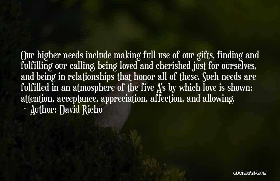 Trust And Love In Relationships Quotes By David Richo