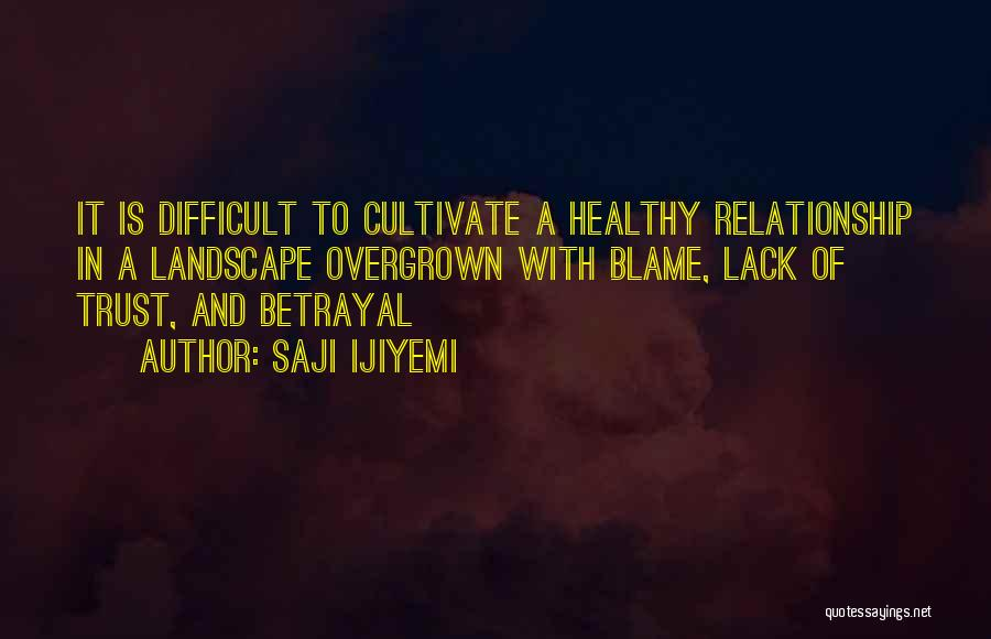 Trust And Love In Relationships Quotes By Saji Ijiyemi