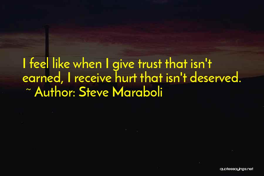 Trust Has To Be Earned Quotes By Steve Maraboli