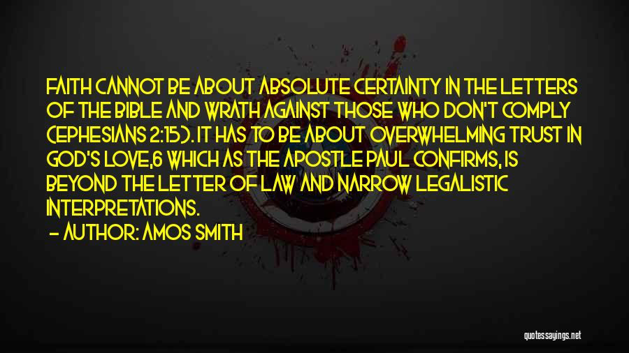 Trust In God Quotes By Amos Smith