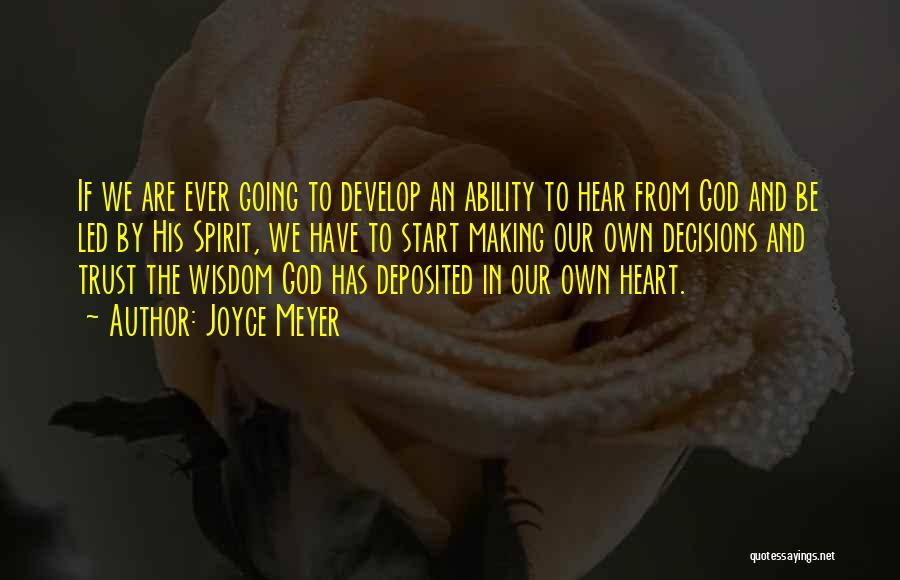 Trust In God Quotes By Joyce Meyer