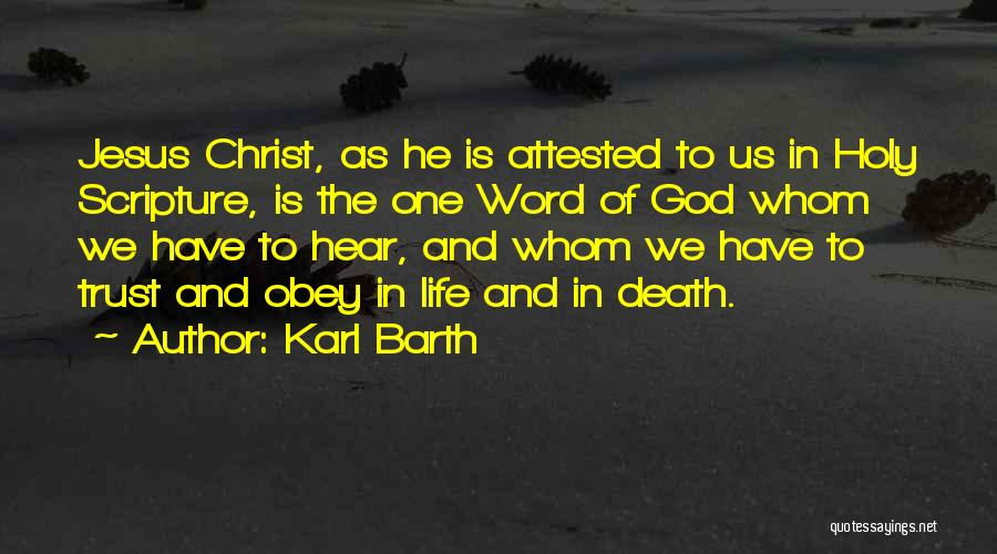 Trust In God Quotes By Karl Barth